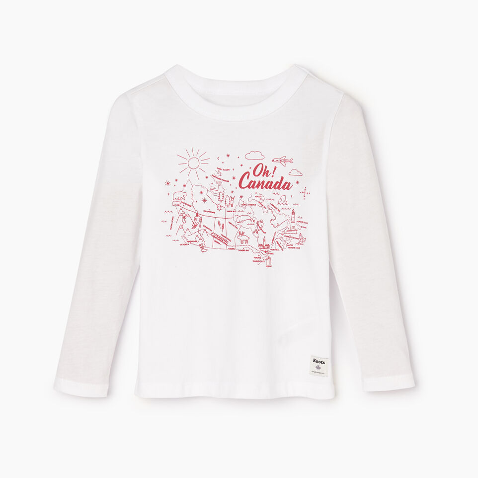 Roots-Sale Kids-Toddler Oh! Canada T-shirt-Crisp White-A