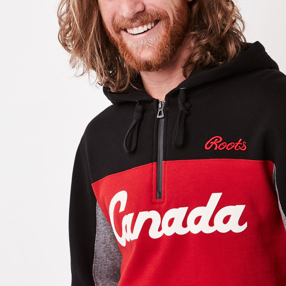 Roots-undefined-Canada Script Kanga Hoody-undefined-C