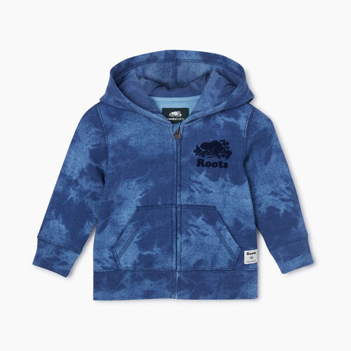Roots-Kids Baby-Baby Original Full Zip Hoody-Federal Blue-A