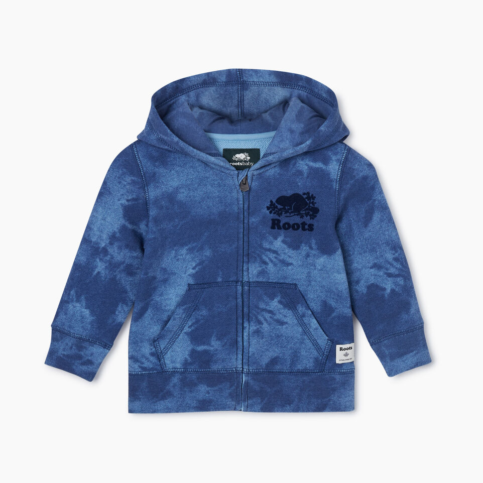 Roots-Kids New Arrivals-Baby Original Full Zip Hoody-Federal Blue-A