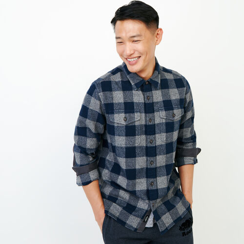 Roots-Men Shirts & Polos-Park Plaid Shirt-Navy Blazer-A