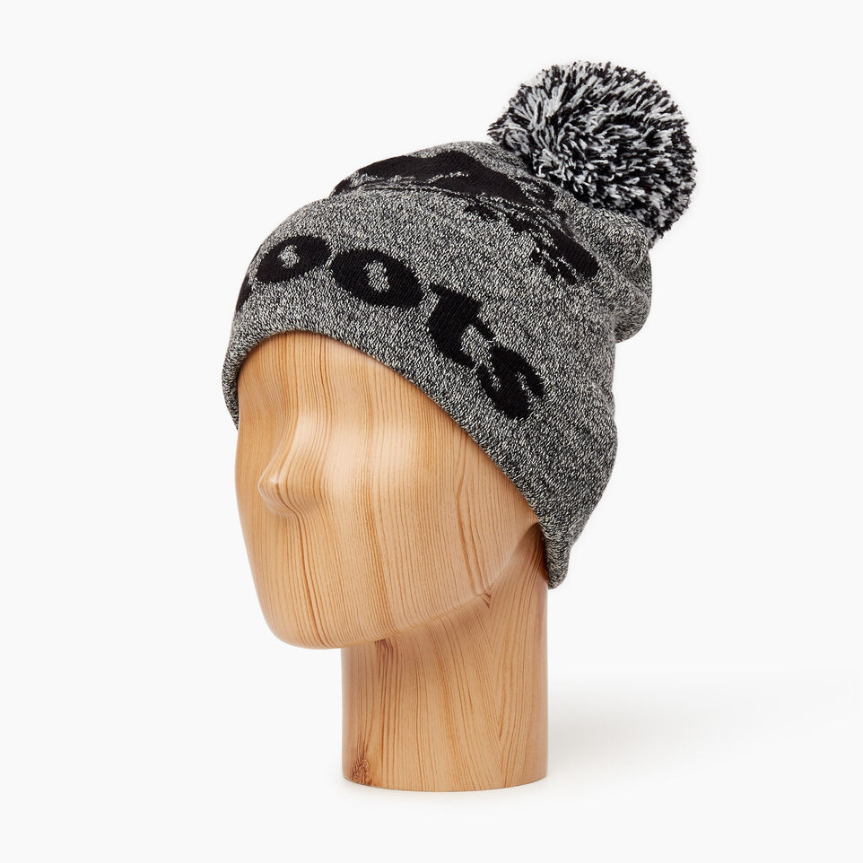 Roots-Men Categories-Cooper Beaver Pom Pom Toque-Salt & Pepper-B