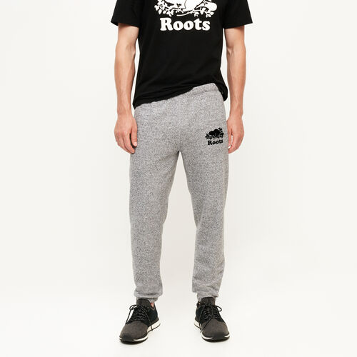 Roots-Men Bestsellers-Slim Elastic Sweatpant-Salt & Pepper-A