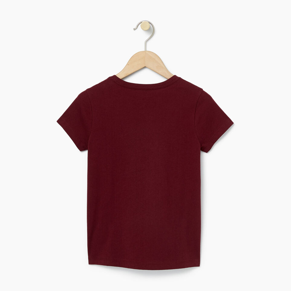 Roots-Clearance Kids-Girls Roots T-shirt-Northern Red-B