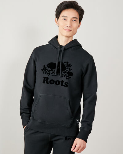 Roots-Men Sweatshirts & Hoodies-Tonal Cooper Beaver Hoody-Black-A