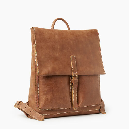 Roots-Women Backpacks-Raiders Pack Tribe-Natural-A