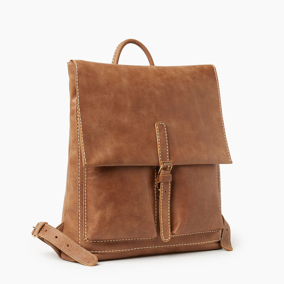Roots-Women Leather-Raiders Pack Tribe-Natural-A