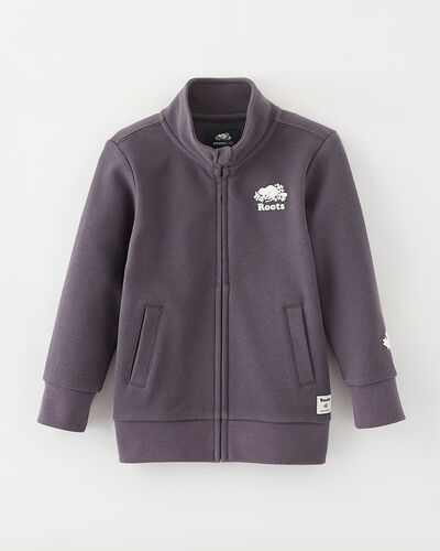Roots-Kids Tops-Toddler Woodland Full Zip Jacket-Forged Iron-A
