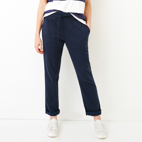 Roots-Women Bottoms-Essential Pant-Navy Blazer-A