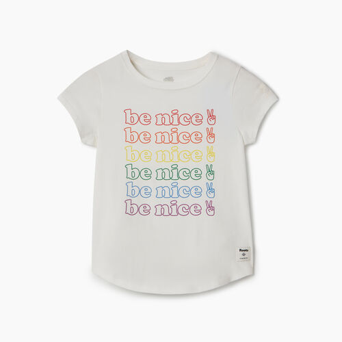 Roots-Kids New Arrivals-Girls Roots Pride T-shirt-Ivory-A