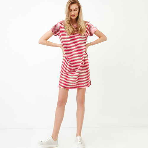 Roots-Women Dresses-Madeira Pocket Dress-Sage Red-A