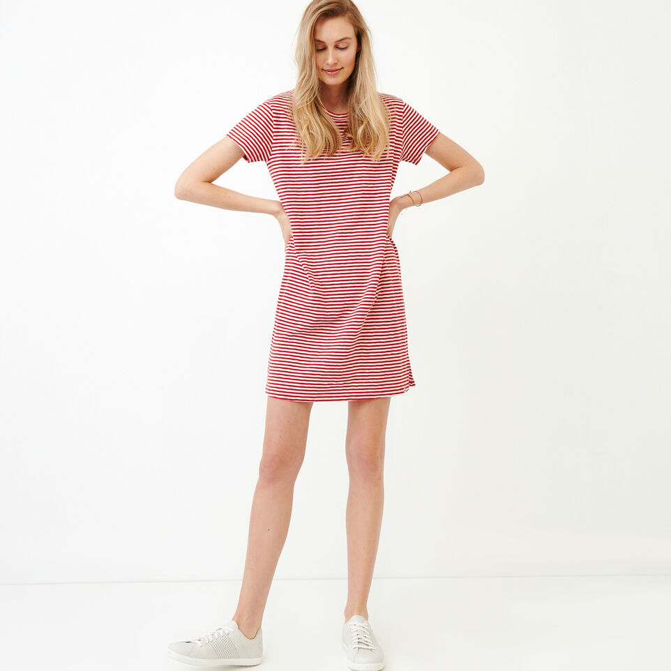 Roots-Women Our Favourite New Arrivals-Madeira Pocket Dress-Sage Red-A