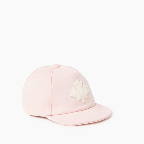 Roots-Kids Accessories-Baby Canada Leaf Baseball Cap-Pink-A