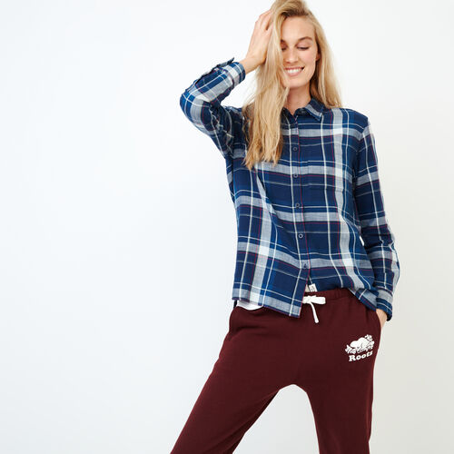Roots-Women Our Favourite New Arrivals-All Seasons Relaxed Shirt-Indigo-A