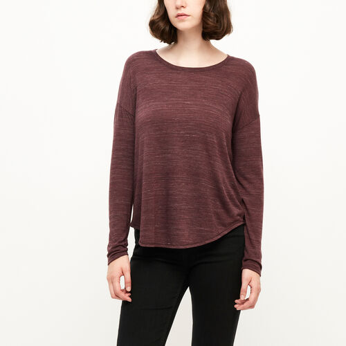 Roots-Sale Women-Hazen Top-Northern Red Mix-A