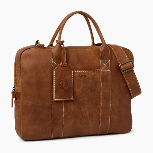 Roots-Leather Collections-Wellington Laptop Bag-Natural-A
