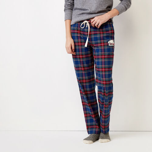 Roots-Winter Sale Women-Inglenook Lounge Pant-Navy Blazer Tartan-A