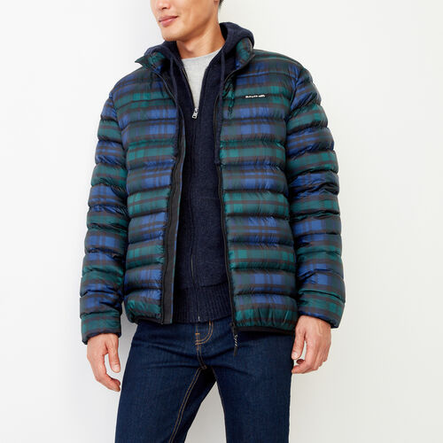 Roots-Men Outerwear-Roots Plaid Packable Jacket-Green Gables-A