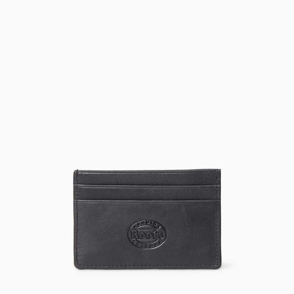 Roots-Leather  Handcrafted By Us Our Favourite New Arrivals-Card Holder Tribe-Jet Black-B