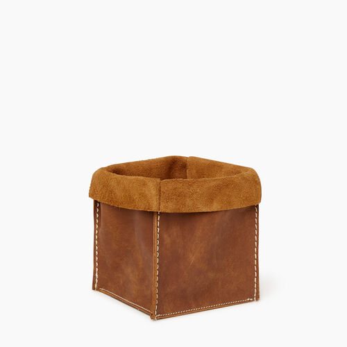 Roots-Women Leather-Medium Rollover Basket Tribe-Natural-A