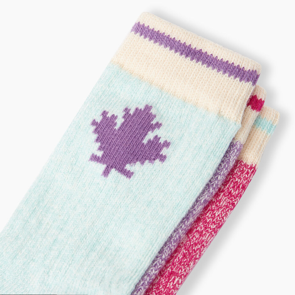 Roots-Kids Toddler Boys-Toddler Maple Sock 3 Pack-Pink-D