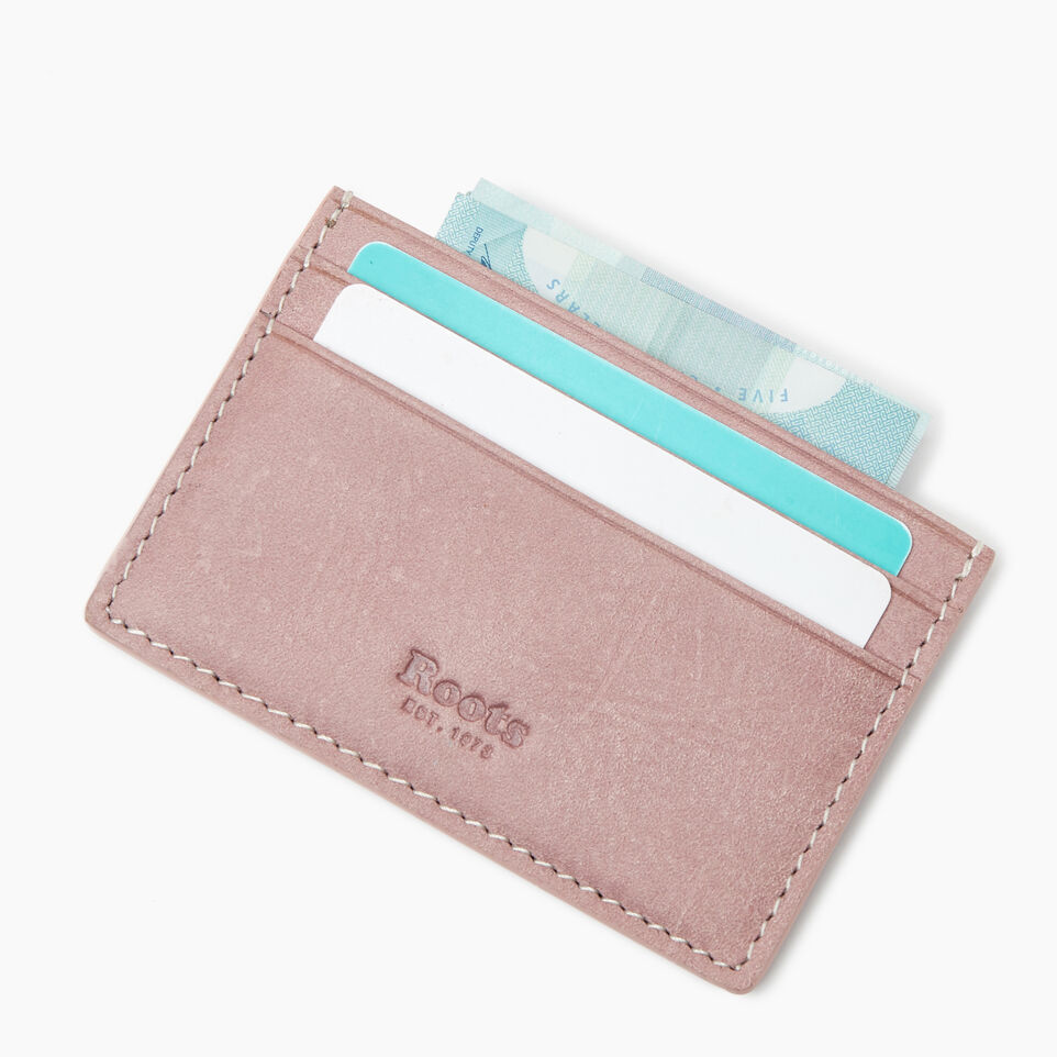 Roots-Leather New Arrivals-Card Holder Tribe-Woodrose-C