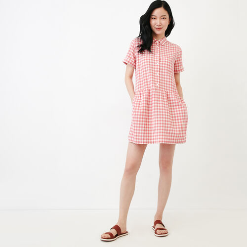 Roots-New For June Plaids-Hartley Dress-Sunset Apricot-A