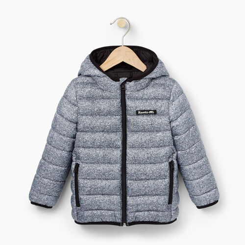 Roots-Kids Outerwear-Toddler Roots Puffer Jacket-Salt & Pepper-A