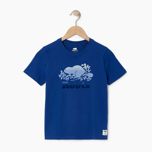 Roots-Clearance Kids-Boys Gradient Cooper T-shirt-Active Blue-A