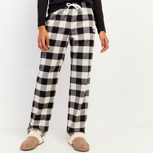 Roots-New For October Plaids-Park Plaid Lounge Pant-Black-A