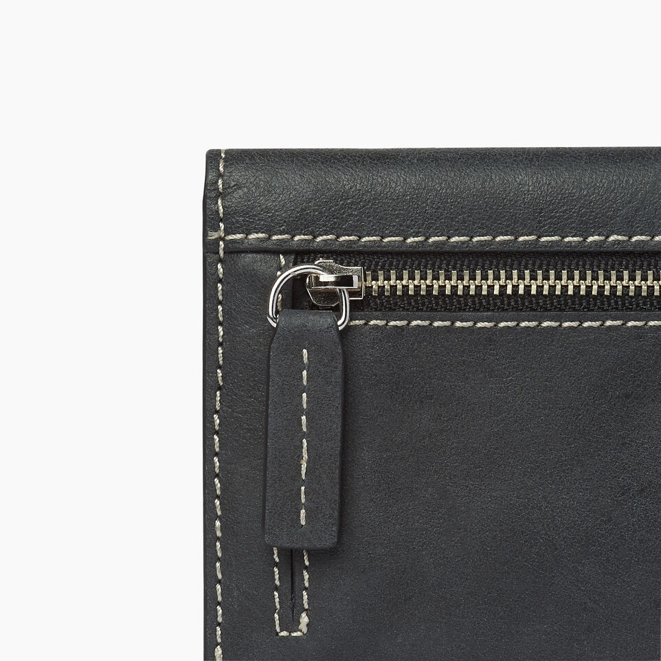 Roots-Leather  Handcrafted By Us Our Favourite New Arrivals-Riverdale Slim Wallet-Jet Black-E