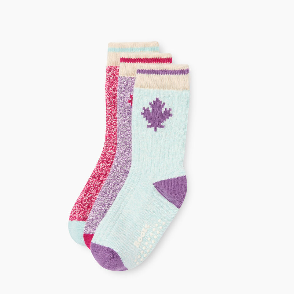 Roots-Kids Toddler Boys-Toddler Maple Sock 3 Pack-Pink-B