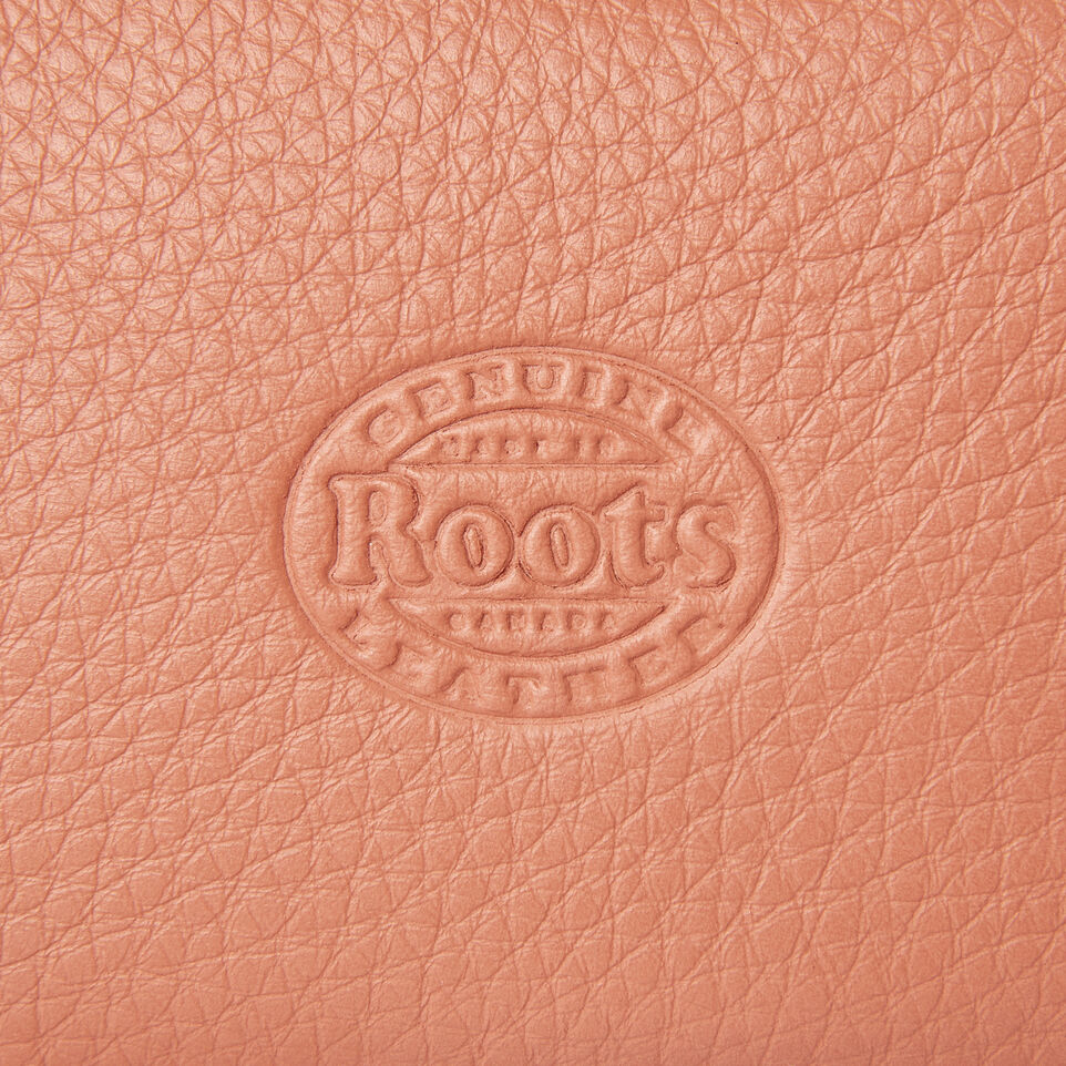 Roots-Leather  Handcrafted By Us Categories-Medium Zip Pouch-Canyon Rose-E