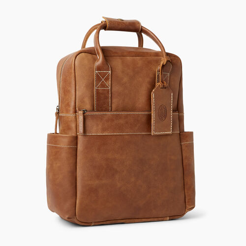 Roots-Leather Backpacks-Granville Backpack-Natural-A