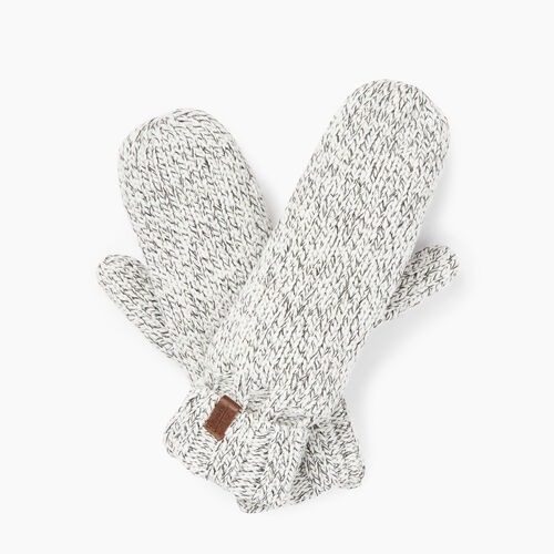 Roots-Clearance Women-Polar Fox Mitt-White Mix-A