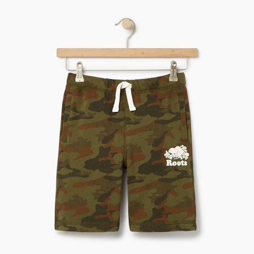 Roots-Kids Our Favourite New Arrivals-Boys Camo Short-Winter Moss Green-A