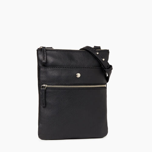 Roots-Leather Bestsellers-Rosedale Crossbody-Black-A
