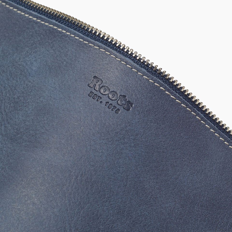Roots-Leather New Arrivals-Festival Bag-Navy-E