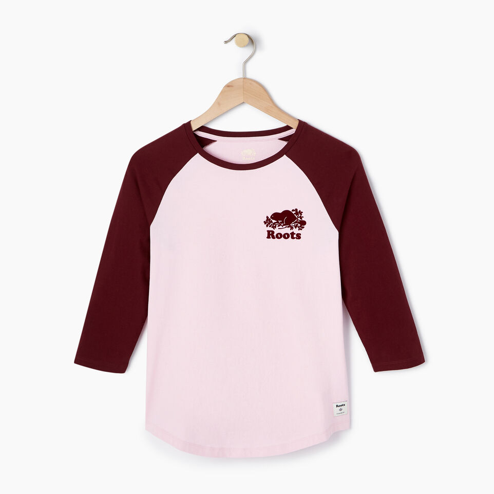 Roots-New For July Daily Offer-Womens Caraquet Raglan T-shirt-Pink Mist-A