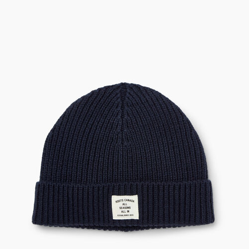 Roots-Men Accessories-Wool Fisherman Toque-Navy-A