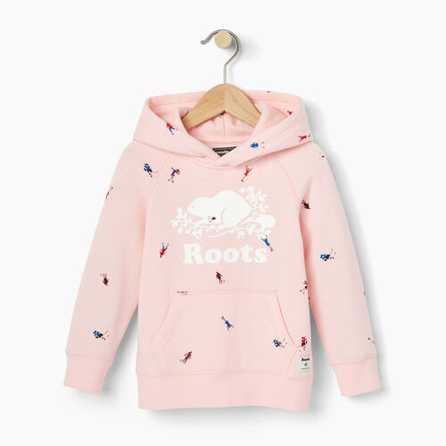 Roots-Kids Tops-Toddler Skater Kanga Hoody-Light Pink-A