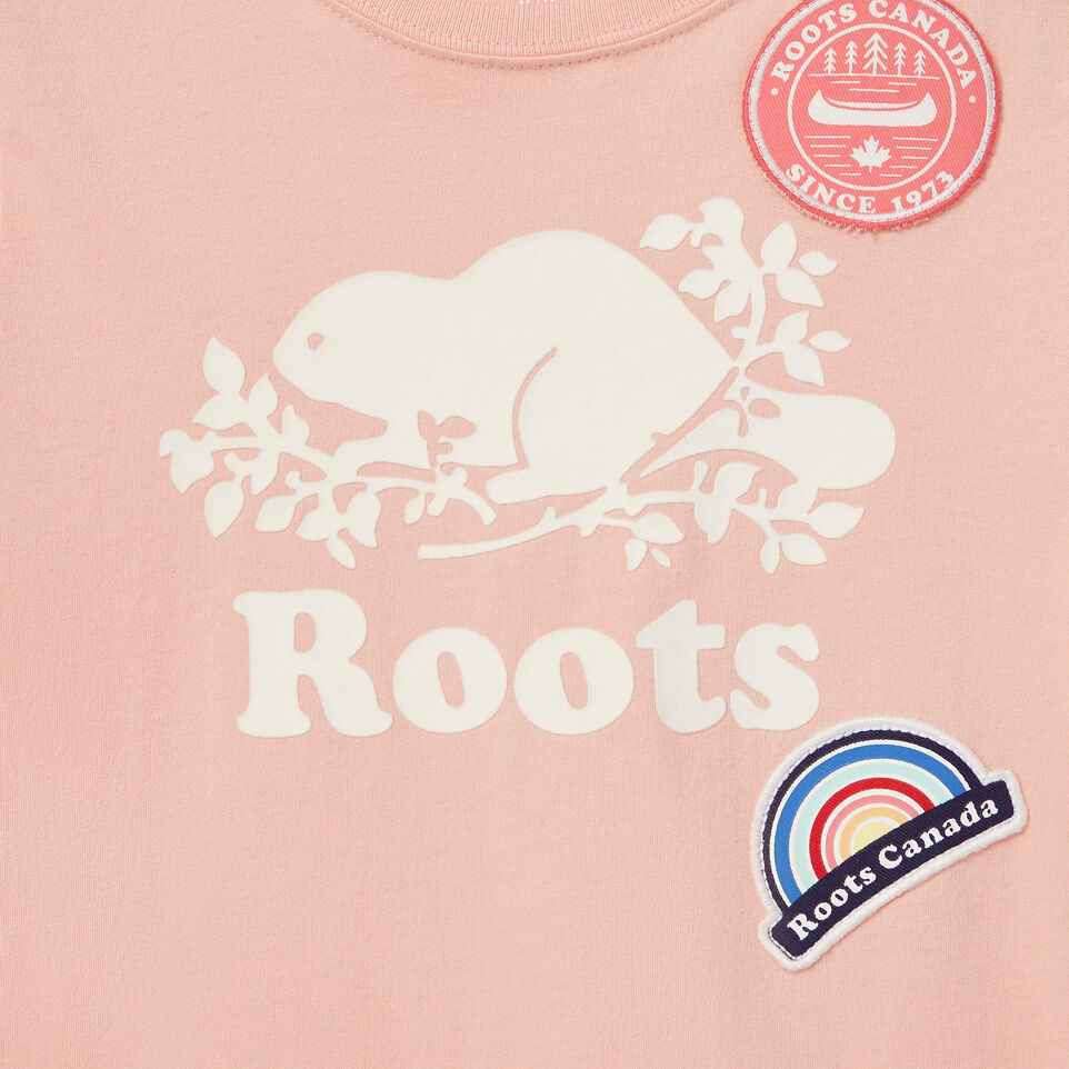 Roots-Kids Our Favourite New Arrivals-Girls Patches T-shirt-Blossom Pink-D