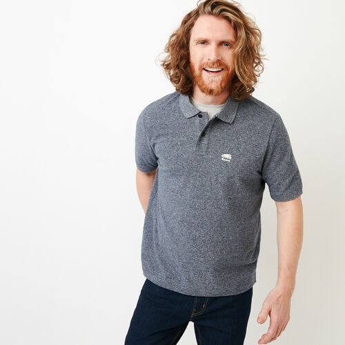 Roots-Men Shirts & Polos-Heritage Pique Polo-Blue Pepper-A