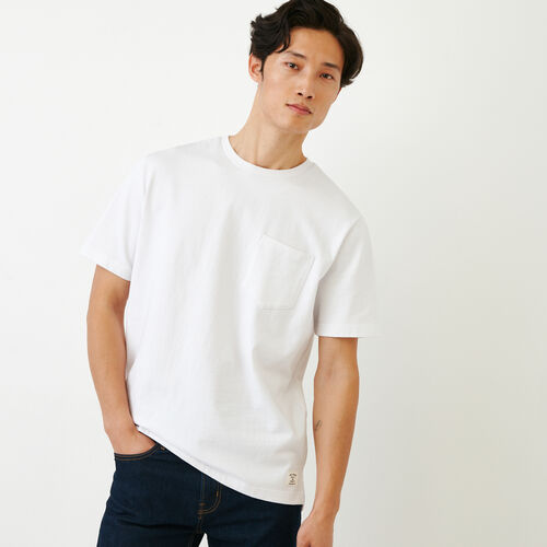 Roots-Men Our Favourite New Arrivals-10oz Pocket T-shirt-White-A