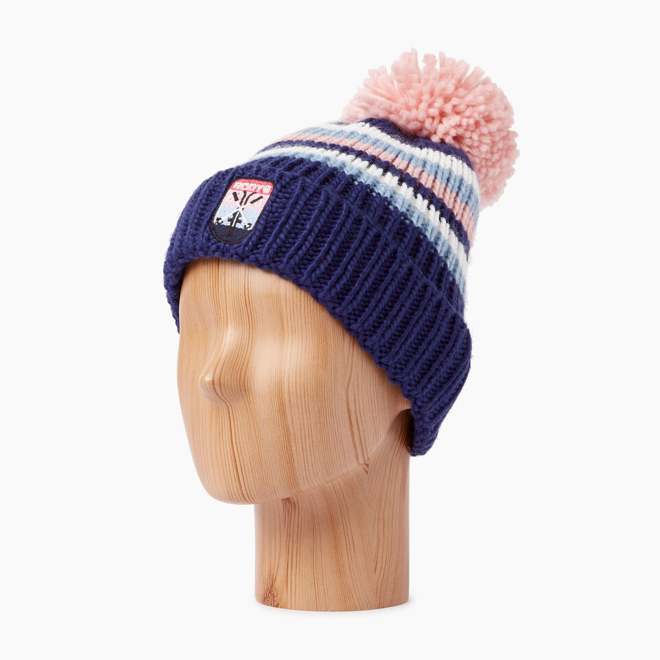 Roots-Kids Our Favourite New Arrivals-Kids Kananaskis Pom Pom Toque-Blue Depths-B