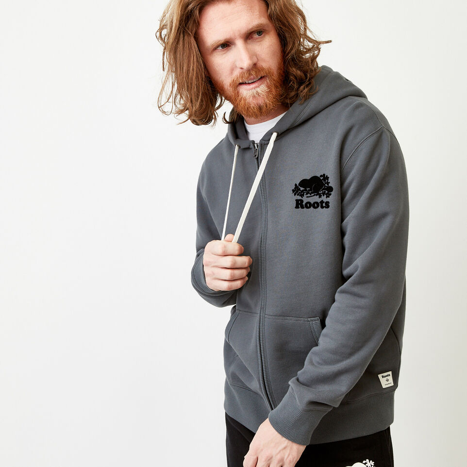 Roots-Men Our Favourite New Arrivals-Original Full Zip Hoody-Iron Gate-A
