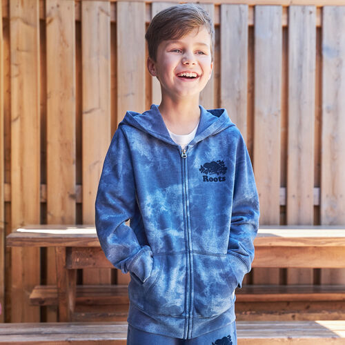 Roots-Kids New Arrivals-Boys Original Full Zip Hoody-Federal Blue-A