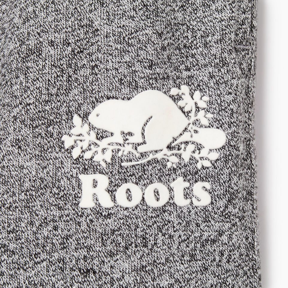 Roots-Kids New Arrivals-Girls Slim Cuff Sweatpant-Salt & Pepper-C