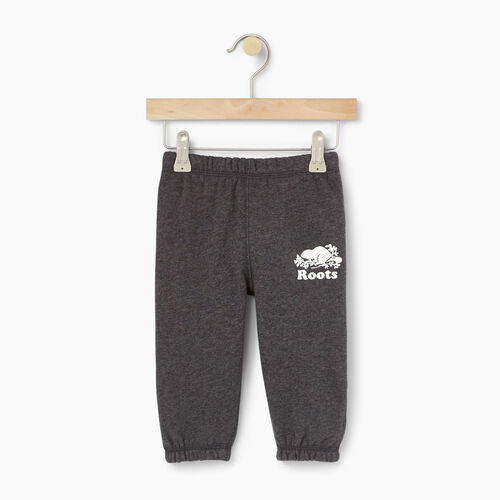 Roots-Kids Baby-Baby Original Sweatpant-Charcoal Mix-A