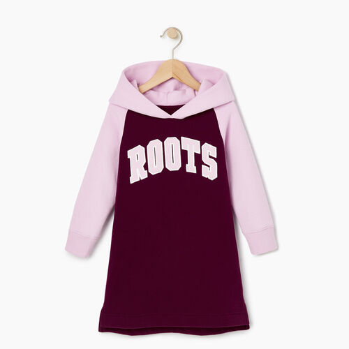 Roots-Sale Kids-Toddler 2.0 Hooded Dress-Pickled Beet-A